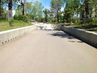 St. Patrick's Island concrete retaining wall 2