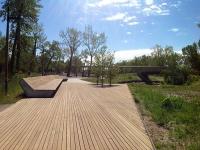 St. Patrick's Island red wood deck 2